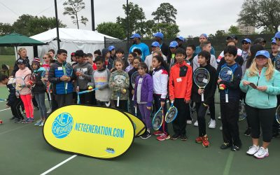 TBF hosts morning with NetGeneration during U. S. Men's Clay Tennis Tournament in Houston